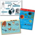 educatieve posters kindertentoonstelling Ondergronds