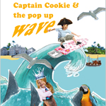 presentatie boek 'Captain Cookie and the pop up wave'